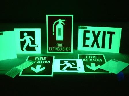 glow in the dark fire exit