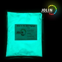 blue green glow in the dark powder