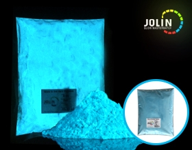 bule glow in the dark powder